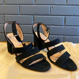 Madewell Maria Triple Strap Suede Sandal